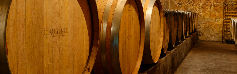 Tonneaux vin à la cave